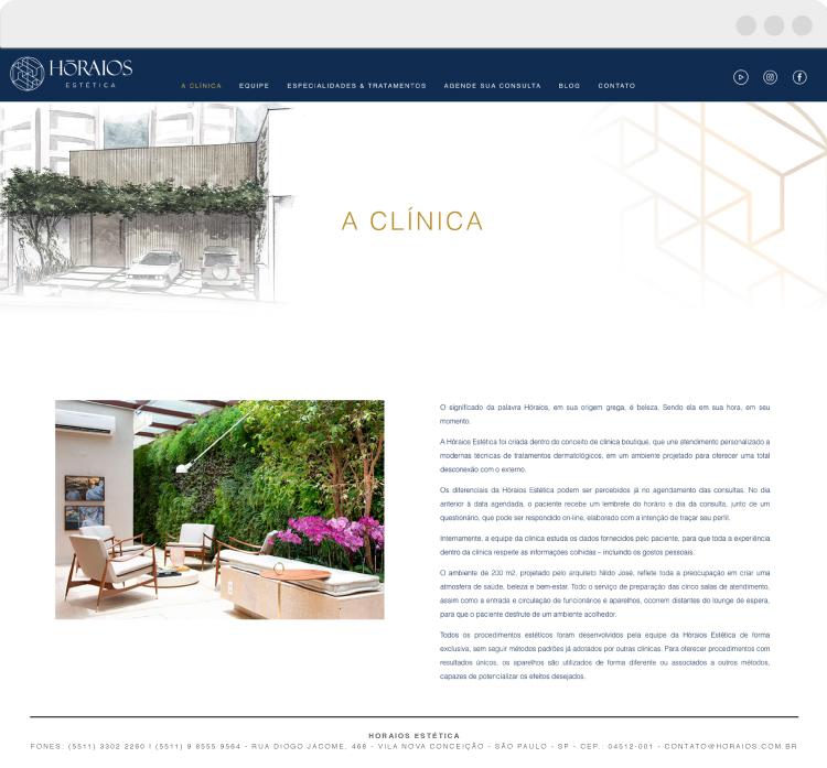 Site - A Clínica