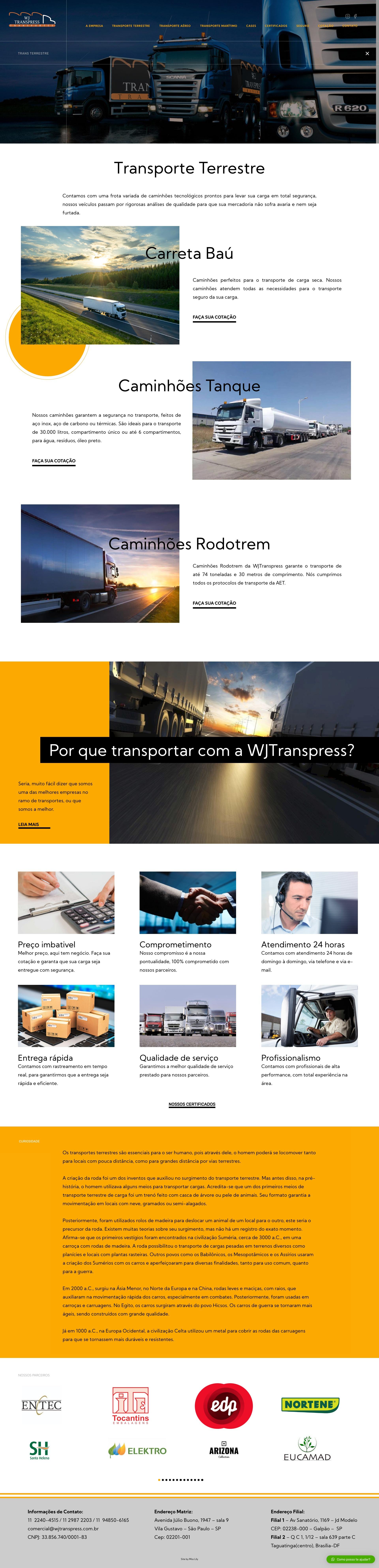 4- Transporte Terrestre - WJ Transpress - Transportadora