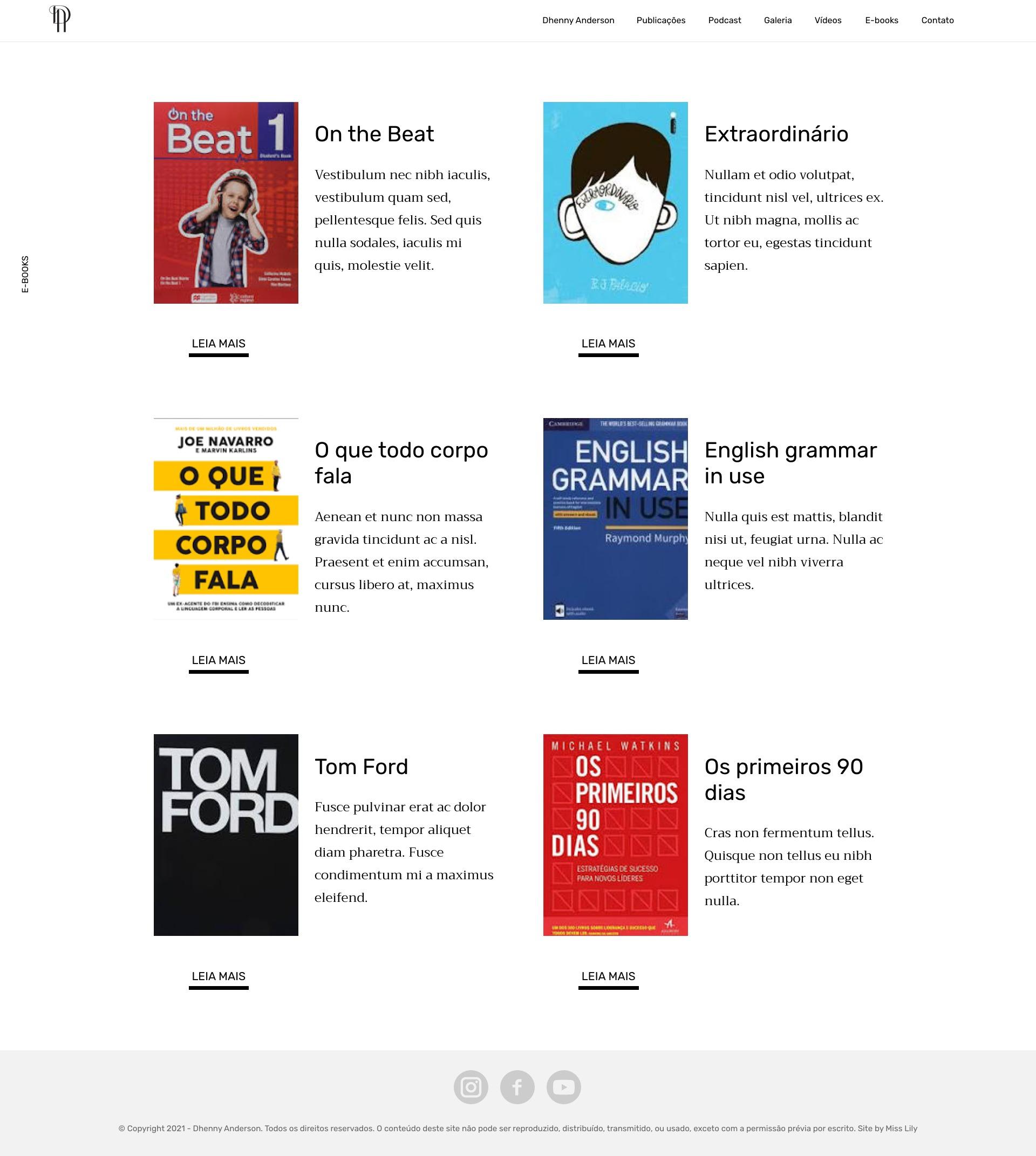 Arquivo E-Books - Dhenny Anderson